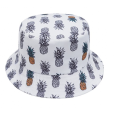 GP Accessories Mens Womens Trends Fashion Bucket Hat Pineapple 2 Color White
