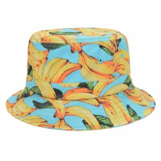 Hatphile Mens Womens Trends Fashion Bucket Hat Banana Teal