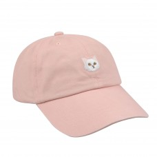Hatphile 6 Panel Dad Hat Baseball Cap Persian Cat Pink