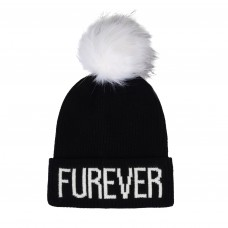 Hatphile Trendy Warm Soft Stretchy Furever Faux Fur Pompom Knit Beanie Skully Toque