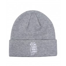 Hatphile Cat Hair Don't Care Embroidery Knit Beanie Toque