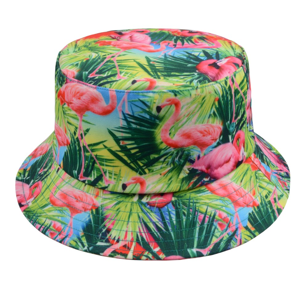 90c8f7f9be5 Hatphile Flamingo Tropical Blue Bucket Hat